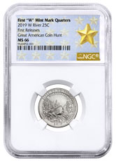 2019-W 25C Clad River of No Return Wilderness (Idaho) Quarter NGC MS66 FR West Point Star Label