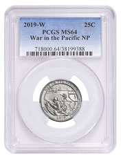 2019-W Clad War in the Pacific America the Beautiful Quarter PCGS MS64