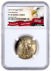2019-W 1/2 oz Gold American Eagle Proof $25 NGC PF70 UC FR Exclusive Eagle Label
