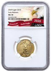 2020 1/4 oz Gold American Eagle $10 NGC MS70 ER Exclusive Eagle Label
