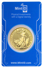 2020 Great Britain Gold Britannia 1 oz Gold £100 Coin GEM BU in MintID Microchip Certicard