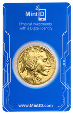 2020 1 oz Gold Buffalo $50 Coin GEM BU in MintID Microchip Certicard