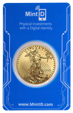 2020 1 oz Gold American Eagle $50 GEM BU in MintID Microchip Certicard