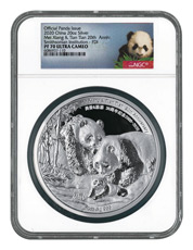 2020 China Smithsonian Panda 20th Anniversary 20 oz Silver Proof Medal Scarce and Unique Coin Division NGC PF70 UC FDI