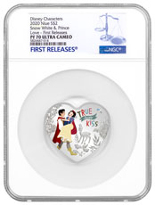 2020 Niue 1-oz Silver Disney Love - Snow White Colorized Proof $2 Coin NGC PF70 UC FR