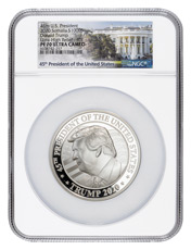 2020 Donald Trump Ultra High Relief 10 oz Silver Proof Coin Scarce and Unique Coin Division NGC PF70 UC FDI White House Label