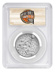 2020-D Basketball Hall of Fame Commemorative Clad Half Dollar Coin PCGS MS70 FS Hall of Fame Label