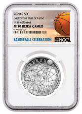 2020-S Basketball Hall of Fame Clad Half Dollar Proof Coin NGC PF70 FR