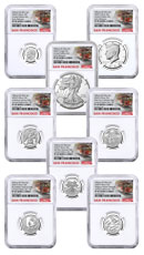8-Coin Set - 2020-S U.S. Limited Edition Silver Proof Coins Set NGC PF69 UC ER Trolley Label
