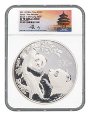 2021 China 1 Kilo Silver Panda Proof ¥300 Coin Scarce and Unique Coin Division NGC PF70 UC FR Tong Signed Label