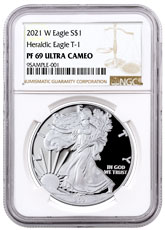 2021-W Proof American Silver Eagle NGC PF69 UC