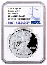 2021-W Silver Proof American Eagle NGC PF70 UC FR