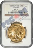 2009 $50 Gold Buffalo NGC MS70 Mint State 70