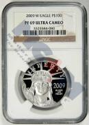 2009-W $100 Platinum Eagle NGC PF69 UC Proof 69 Ultra Cameo