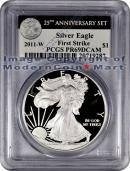 2011-W 25th Anniversary Silver Eagle FROM (A25) SET PCGS PR69 DCAM FS Proof 69 Deep Cameo First Strike