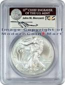 2011 25th Anniversary Silver Eagle Signed by John M. Mercanti FROM (A25) SET PCGS MS69 FS Mint State 69 First Strike
