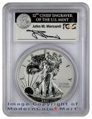 2011-P 25th Anniversary Silver Eagle Signed by John M. Mercanti FROM (A25) SET PCGS Rev PR69  Reverse Proof 69