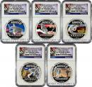 2012-P Australia 5-Coin 1 Oz Silver Discover Australia Set NGC PF70 ER Proof 70 Early Releases ***EXCLUSIVE LABEL***