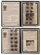 Roman Empire (AD 253-383) - Rise of Christianity in Ancient Rome 12-Coin Set (Presentation Portfolio with COA)