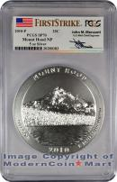 2010-P 5 Oz America The Beautiful NP5 Mount Hood John Mercanti Signed Label PCGS SP70 FS Specimen 70 First Strike