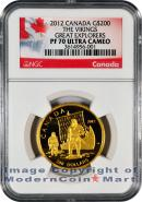 2012 Canada Gold The Vikings - Great Explorers $200 NGC PF70 UC Proof 70 Ultra Cameo ***EXCLUSIVE LABEL***