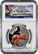 2012-P Australia Colorized 1/2 Oz Silver Sea Life - Reef Octopus 50C NGC PF70 UC ER Proof 70 Ultra Cameo Early Releases ***EXCLUSIVE LABEL***
