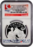 2012 Canada Silver Queen's Visit to Canada - Diamond Jubilee NGC PF70 UC ER Proof 70 Ultra Cameo Early Releases ***EXCLUSIVE LABEL***