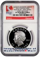 2012 Canada Silver High Relief - Diamond Jubilee $20 NGC PF70 UC ER Proof 70 Ultra Cameo Early Releases ***EXCLUSIVE LABEL***