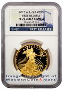 2012-W $50 Gold Eagle NGC PF70 UC FR Proof 70 Ultra Cameo First Releases
