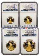 2012-W 4 Coin Gold Eagle Set NGC PF70 UC ER Proof 70 Ultra Cameo Early Releases