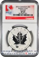 2012 Canada 1 oz Silver Maple Leaf $5 With Titanic Privy Mark NGC SP69 Specimen 69 ***EXCLUSIVE LABEL***