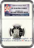 2004-W $25 Platinum Eagle NGC PF70 UC Proof 70 Ultra Cameo ***TOP 50 LABEL***
