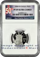 2004-W $25 Platinum Eagle NGC PF69 UC Proof 69 Ultra Cameo ***TOP 50 LABEL***