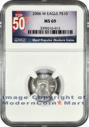 2006-W Burnished $10 Platinum Eagle NGC MS69 Mint State 69 ***TOP 50 LABEL***