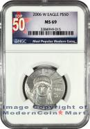 2006-W Burnished $50 Platinum Eagle NGC MS69 Mint State 69 ***TOP 50 LABEL***