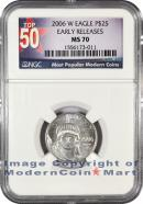 2006-W Burnished $25 Platinum Eagle NGC MS70 ER Mint State 70 Early Releases ***TOP 50 LABEL***
