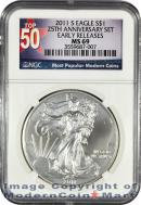 2011-S 25th Anniversary Silver Eagle FROM (A25) SET NGC MS69 ER Mint State 69 Early Releases ***TOP 50 LABEL***