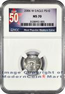 2006-W Burnished $10 Platinum Eagle NGC MS70  Mint State 70 ***TOP 50 LABEL***