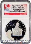 2012 Canada Colorized Silver-Plated RMS Titanic - 100th Anniversary 50c NGC PF70 UC Proof 70 Ultra Cameo ***EXCLUSIVE LABEL***