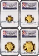 2008-W 4 Coin Gold Buffalo Set NGC PF70 UC ER Proof 70 Ultra Cameo Early Releases ***TOP 50 LABEL***