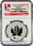 2012 Canada 1 oz Silver Maple Leaf $5 With the Titanic Privy Mark NGC Specimen Gem Uncirculated ***EXCLUSIVE LABEL***