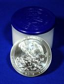 2012 5 Oz Silver America The Beautiful El Yunque National Park Gem Brilliant Uncirculated - Roll of 10 Coins