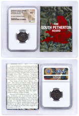 Romano-Gallic Empire, Billon Double Denarius of Postumus (AD 260-269) - South Petherton Hoard NGC AU (Story Vault)