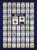 Top 50 Most Popular Modern Coins 18X24 inch Art Poster - Ready for Framing! ***BULK DEAL - 20 POSTERS***