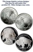 Roll of 20 - One Ounce - 1 Oz .999 Fine Silver American Indian Buffalo Rounds (Various Designs)