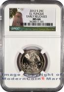 2012-S El Yunque 25C Quarter NGC MS66 ER Mint State 66 Early Releases
