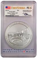 2012-P 5 Oz Silver America The Beautiful NQ1 Chaco Signed by John M. Mercanti PCGS SP70 FS Specimen 70 First Strike