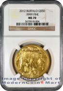 2012 $50 Gold Buffalo NGC MS70 Mint State 70