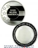 God Bless America 1 Troy Ounce .999 Fine Silver Medallion Round