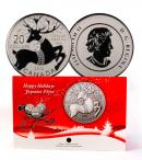 2012 Canada $20 Silver Happy Holidays Magical Reindeer Coin GEM BU in Orginal Government Packaging ***HOLIDAY GIFT IDEA***